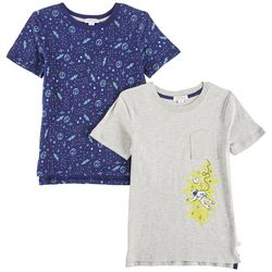 Flapdoodles Little Boys 2-pk. Astronaut & Space T-Shirts