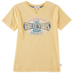 Flapdoodles Little Boys Great Vibes T-Shirt
