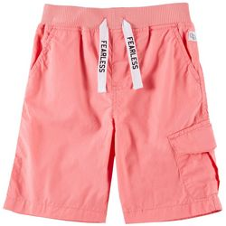 Flapdoodles Little Boys Fearless Solid Poplin Shorts