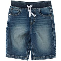 Flapdoodles Little Boys Knit Waist Denim Shorts