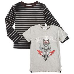 Flapdoodles Little Boys 2-pk. Daredevil & Stripe T-Shirts