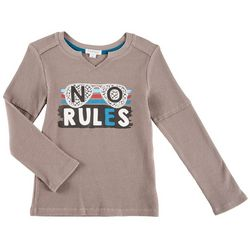Flapdoodles Little Boys No Rules Thermal Long Sleeve T-Shirt