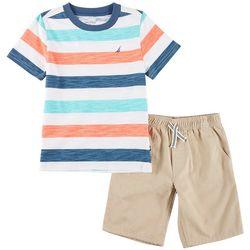 Nautica Little Boys Striped Shorts Set