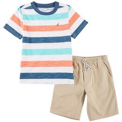 Nautica Little Boys Striped Top & Shorts Set