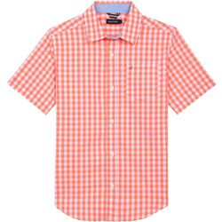 Nautica Little Boys Check Woven Short Sleeve Shirt