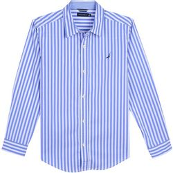 Nautica Little Boys Stripe Button Down Long Sleeve Shirt