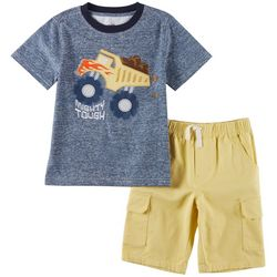 Kids Headquarters Little Boys 2-pc. Truck Shorts Set