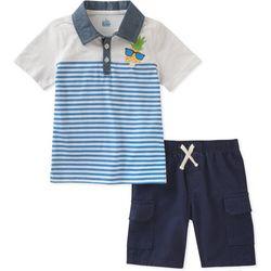 Nautica Little Boys Stripe Polo Shorts Set