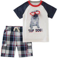 Nautica Little Boys Top Dog Shorts Set