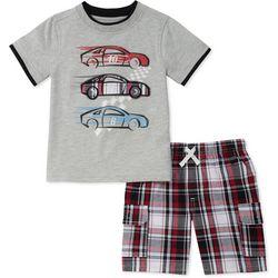 Nautica Little Boys 2-pc. Racing Cars Shorts Set
