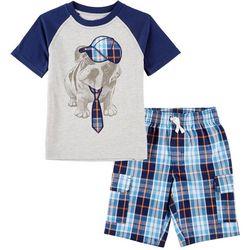 Nautica Little Boys Dog Tie Shorts Set