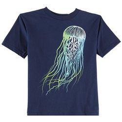 TSI Little Boys Neon Jellyfish T-Shirt