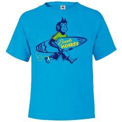 TSI Little Boys Beach Monkey T-Shirt