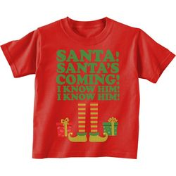 TSI Little Boys Santa, I Know Him! T-Shirt