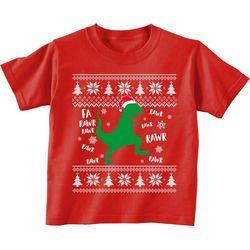TSI Little Boys Fa Rawr Rawr Dino T-Shirt