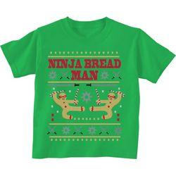 TSI Little Boys Ninja Bread Man T-Shirt