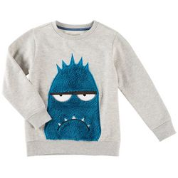 Seven Oaks Little Boys Grumpy Monster Sweatshirt