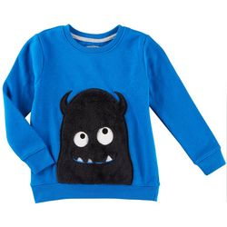 Seven Oaks Little Boys Happy Monster Sweatshirt