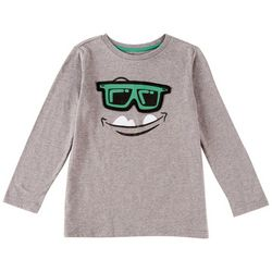 Seven Oaks Little Boys Flip Sunglasses Long Sleeve T-Shirt