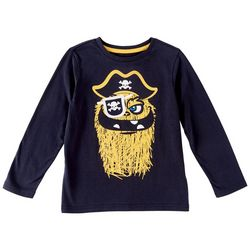 Seven Oaks Little Boys Flip Up Eye Patch Long Sleeve T-Shirt