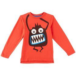 Seven Oaks Toddler Boys Googly Eye Monter T-Shirt