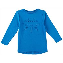Hollywood Toddler Boys 3-D Spaceship Long Sleeve T-Shirt