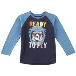 Hollywood Toddler Boys Ready To Fly Raglan T-Shirt
