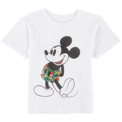 Disney Mickey Mouse Little Boys Floral Mickey Mouse T-Shirt