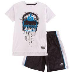 RBX Little Boys Football Shorts Set