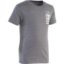Under Armour Little Boys UA Vertical Block Logo T-Shirt