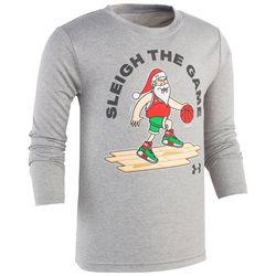Under Armour Little Boys Sleigh The Game Long Sleeve T-Shirt