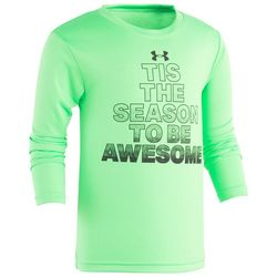 Under Armour Little Boys Tis The Season Long Sleeve T-Shirt