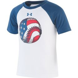 Under Armour Little Boys UA Flag Baseball T-Shirt