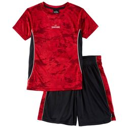 Spalding Little Boys 2-pc. Athletic Camouflage Shorts Set