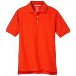 French Toast Big Boys Solid Pique Polo Shirt