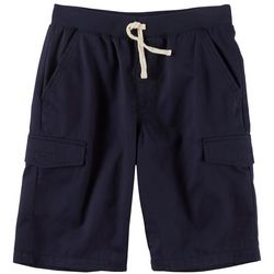 French Toast Big Boys Drawstring Cargo Shorts
