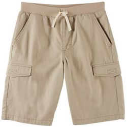 French Toast Little Boys Solid Pull On Cargo Shorts
