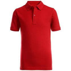 Nautica Big Boys Solid Pique Polo Shirt