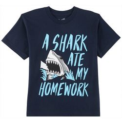 TSI Big Boys A Shark Ate My Homework T-Shirt