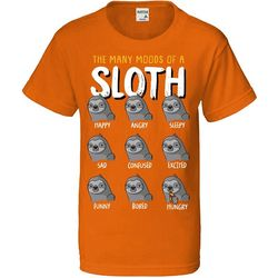 TSI Big Boys Many Moods Of A Sloth T-Shirt