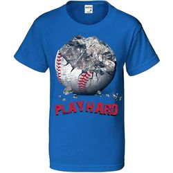 TSI Big Boys Baseball Play Hard T-Shirt