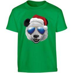 TSI Big Boys Christmas Panda T-Shirt