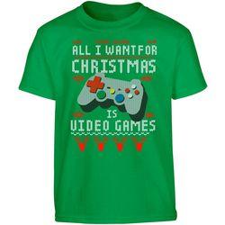 TSI Big Boys All I Want Is Video Games T-Shirt