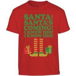 TSI Big Boys Santa, I Know Him! T-Shirt