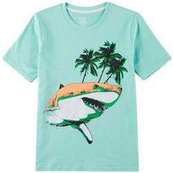 Seven Oaks Little Boys Shark Palm T-Shirt