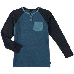 Ocean Current Big Boys Shook Henley Long Sleeve T-Shirt