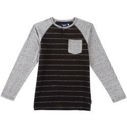 Ocean Current Big Boys Chapter Long Sleeve Henley T-Shirt