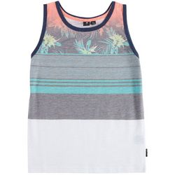 Ocean Current Big Boys Julian Floral Stripe Tank Top