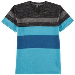 Ocean Current Big Boys Stripe Space Dye V-Neck T-Shirt