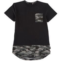 Ocean Current Big Boys Camo Pocket T-Shirt